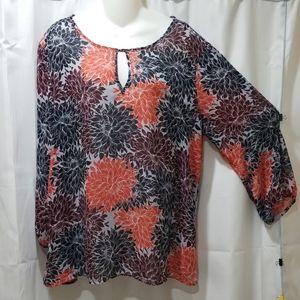 Banana Republic long sleeve sheer blouse Size XL